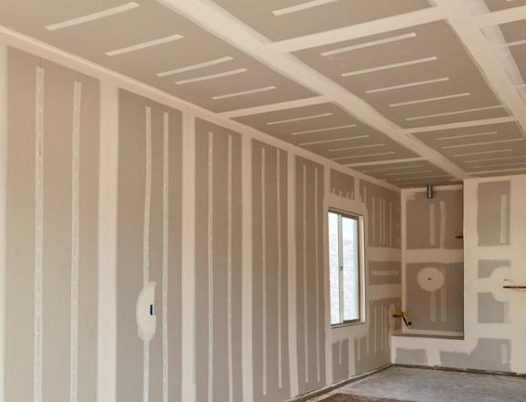 Parede de Drywall em construção