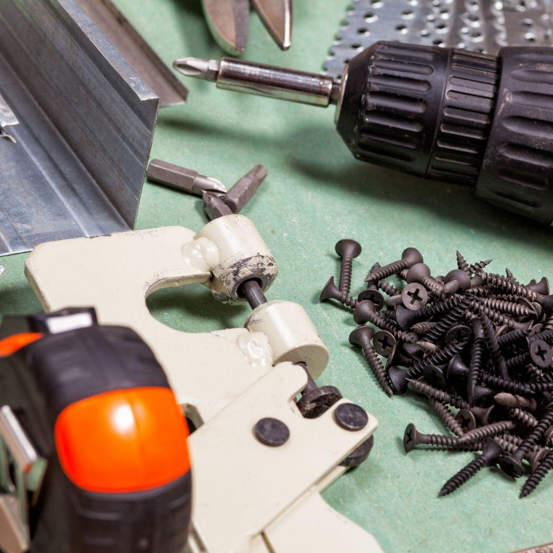 Componentes para montagem de Drywall